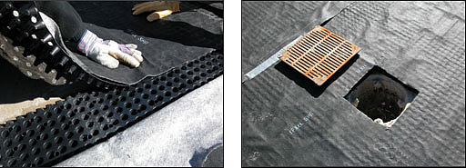 Green Roof Drainage with a Dimple Drain Board