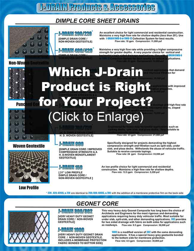 J Drain Products